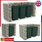 Gabion Wheelie Bin Surround Steel Basket Stone Shed for Garbage Bins Storage UK