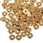 Внешний вид - 12 Size Gold Solid Brass Disc Spacer Washer beads Flat Spacer Beads Jewelry DIY