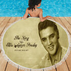 great Round Beach Towel Soft Yoga Mat The King Of Elvis Aaron Presle with Fringe