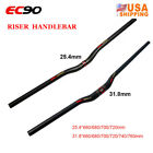 US EC90 3K Matt Handlebar Carbon Fiber 31.8/25.4mm Flat/Riser MTB Bicycle Bar  <br/> 25.4*660-720mm ~ 31.8*660-760mm ~ 0-1 Day Handle Time