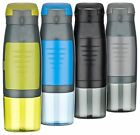 BPA Free Plastic 2 In 1 Pet Shaker Water Bottle With Storage Compartment