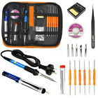 Electric Soldering Iron Gun Tool Kit 110V 60W Welding Desoldering Pump Tool Set photo