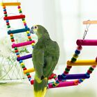 Bird Swing Wooden Bridge Ladder Climb Cockatiel Budgie Parrot Pet Toys Novel New