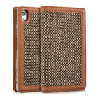 CASE WALLET STYLE DONNA FOR SONY XPERIA Z5 COVER FLIP TWEED BAG CASE WALLET