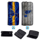 St. Louis Blues Leather Long Wallet Clutch Purse Zip Phone Holder $16.99 USD on eBay