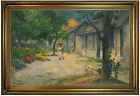Gauguin Village in Martinique 1887 Wood Framed Canvas Print Repro 19x30