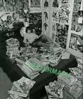 SERIOUS COMIC BOOK COLLECTOR BACK IN THE DAY PUBLICITY PHOTO