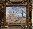 Sisley Banks of the Loing Autumn Effect 1881 Wood Framed Canvas Print Repro 8x10