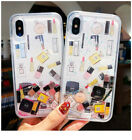 Quicksand Capinha Phone Case For iPhone X XS MAX Dynamic Liquid Makeup Icons New