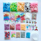 46Pcs Slime Supplies Kit Foam Beads Charms Styrofoam Tools For DIY Slime Making