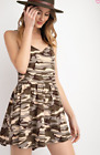 EASEL ANTROPOLOGIE BRAND CAMO Light  PRINTED RAYON SPAN SHORT ROMPER Size L NWT