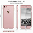 360° Protective Phone Case For i Phone 6s Plus w/ Screen Protector Rose Gold