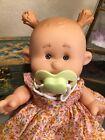 2011 TOLLYTOTS LIMITED EDITION BABY DOLL, VINYL WITH PIGTAILS AND YELLOW PACIFIE