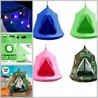 330lbs Waterproof Hanging Tree Tent Enclosed Safely Family Space with LED Lights