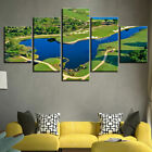 Green Golf Course Painting 5p Canvas Print Relax Time Poster Wall Art Gift Decor