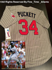 NEW Kirby Puckett Minnesota Twins Men's M&N 1987 Gray Pinstripe Retro Jersey on Ebay