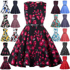 Kids Flower Girls Dress Princess Floral Retro Vintage 50s Party Ball Swing Dress