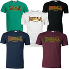 Lonsdale Premium CLASSIC Slim-Fit T-Shirt Flock Print Logo 100% Cotton