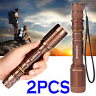 8x Tactical Police 90000Lumens 5Mode T6 LED 18650 Flashlight Aluminum Zoom Torch