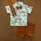2PCS Toddler Kids Baby Boy Gentleman Shirt Tops Pants Shorts Clothes Outfits Set