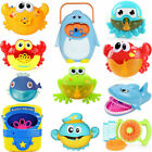 Bubble Machine Crab Frog Automatic Bubble Maker Blower Music Bath Toys for Baby