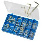 Brass Steel 13 - 50mm L Type Hooks Square TORRES Assortment Kit #HAK35