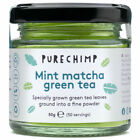 Flavoured Matcha Green Tea Powder - 50g Glass Jars - Regular/Turmeric/Mint/Lemon