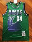 Ray Allen 34 Milwaukee Bucks 96 97 Throwback Vintage Green Jersey