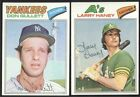 BUY 1, GET 1 FREE - 1977 TOPPS BASEBALL - YOU PICK NUMBERS #1 - #200 - NMMT $1.0 USD on eBay