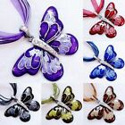 Vintage Rhinestone Butterfly Animals Crystal Pendant Necklace Party Women Gift