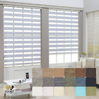 Dual Layer Light Filtering Roller Shade Home & Office Window Blinds Custom Made