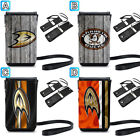 Anaheim Ducks Leather Phone Case Pouch Rope Neck Strap Bag $10.49 USD on eBay