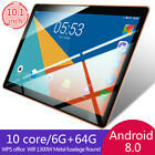 """New 10"""" HD Game Tablet PC Ten Core 6 64G Android 8.0 GPS 3G Wifi Dual Camera"""
