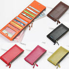 Women large capacity wallet ID Card Phone Holder Zip Long Leather Coin Purse US image