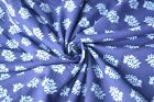 2.5 Yard Indian Fabric Hand Made 100 % Cotton Blue Print Crafting