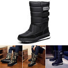 Men's Winter Snow Boots Outdoor Warm Comfy Shoes Waterproof Mid-Calf Boots 1Pair