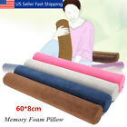 23'' Round Cervical Pillow Roll Neck Lumbar Bolster Memory Foam Washable Cover image