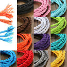 1/5M Vintage Color Twist Braided Fabric Flex Cable Wire Cord Electric Light