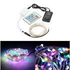 10m 100leds RGB Silver Wire Christmas Outdoor String Fairy Light + Remote DC 12V