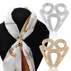 CO_ FT- Women's Scarf Ring with Rhinestone Fashion Gifts for Silk Scarves Garlan