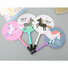 8pcs Cute Fan Horse Unicorn Design Ballpoint Writing Pens Office School Supply
