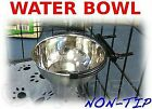 """Bolt on Pet BOWL Food or Water, For Crates Cages Dog Parrot Puppy 5"""" 6"""" 8"""" S M L"""