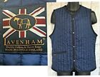 Lavenham Mens Dublin Quilted Gilet Size 42 XL Slim Fit Bodywarmer Navy NEW