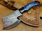 Cuatom Handmade Damascus Steel Mini Axe Camping Crafts Collectible Gift