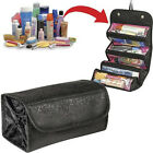 Women Roll-up Portable Toiletry Wash Organizer Cosmetic Makeup Hanging Wash Bag