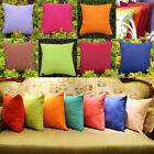 Plain Solid 7 Colors Comfy Cushion Pillow Cover Case Car Sofa Home Deco YMH