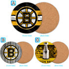 Boston Bruins Wood Coffee Coaster Cup Mug Mat Pad Table Decor $3.99 USD on eBay