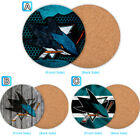 San Jose Sharks Wood Coffee Coaster Cup Mug Mat Pad Table Decor $3.99 USD on eBay