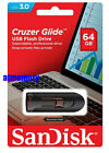 SanDisk Cruzer Glide 32GB 64GB 128GB 256GB USB Flash Drive lot CZ600 USB3.1 US