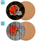 Cleveland Browns Wood Coaster Cup Mat Coffee Drink Mug Pad $4.69 USD on eBay